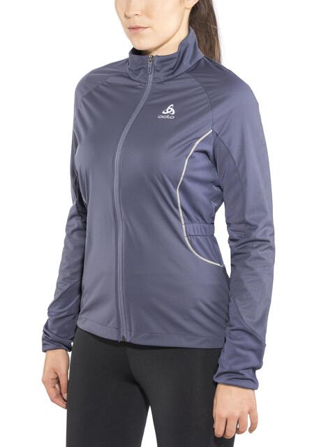 Odlo Zeroweight Windproof Reflect Warm Kurtka do biegania Kobiety szary